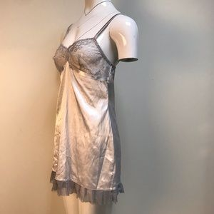 vintage La Perla lingerie silvery blue nightgown